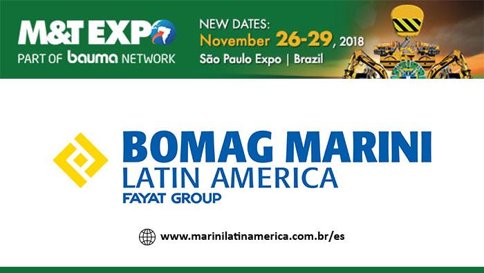 M & T Expo 2018 se realizará del 26 al 29 de noviembre en São Paulo. Feria comercial pospuesta debido a fuerza mayor