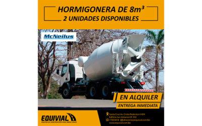 EN ALQUILER HORMIGONERA DE 8m3